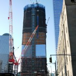 Construction of the Freedom Tower at the World Trade Center site. The plan is to finish this before September '11