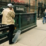 Subway & skateboarder. Yep, that's so New York