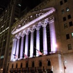 Wall street at night was totally quiet. Those bankers must be busy burning money