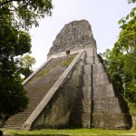 Tikal temple V from close up