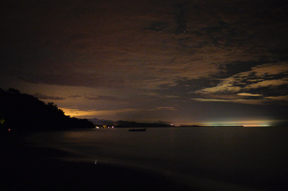 The Punta Uva beach at a very peaceful summer night, captured by long exposure.
