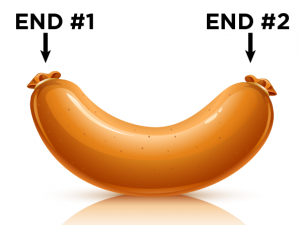 This figure depicts the two ends of a sausage