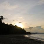 Sunset at the Caribbean beach in Punta Uva