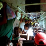 Buses in Nicaragua are pretty crowded at times. And yes, occasionally they do sell live chicken