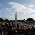 Young Nicaraguans flocking to the youth festival in Managua