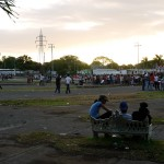 Some youngsters chilling out at the youth festival in Managua