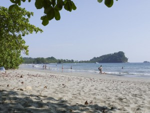 The pacific beach in Manuel Antonio