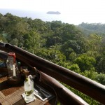 View from the restaurant El Avion in Manuel Antonio