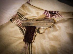 My friend keeps this loaded gun under his pillow - 'for protection'