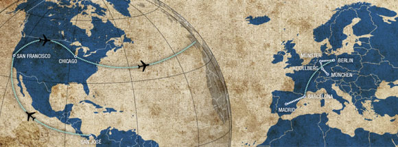 Europe Visit Map