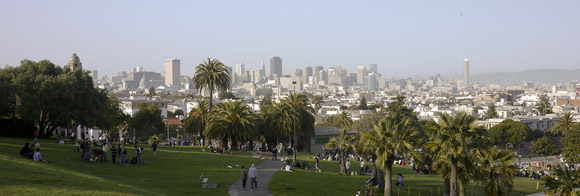 San Francisco Skyline as seen from Dolores park
