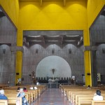 The new cathedral inside has a very concrete charm