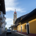 The street of our hostel in Granada, Nicaragua