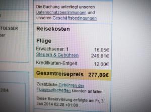 277 euro ticket