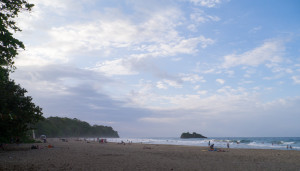 Beach near Puerto Viejo at sunset