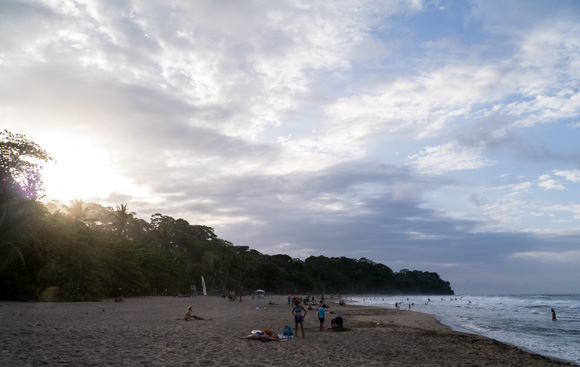 Puerto Viejo beach at sunset